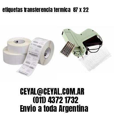 etiquetas transferencia termica  87 x 22