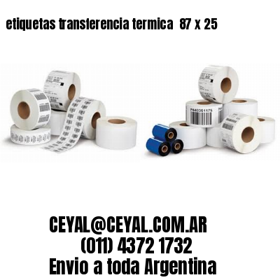 etiquetas transferencia termica  87 x 25