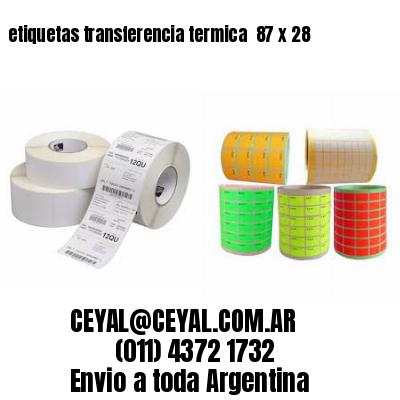 etiquetas transferencia termica  87 x 28