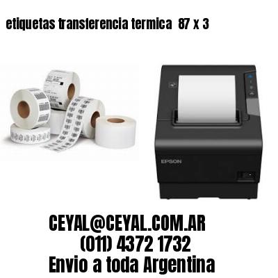etiquetas transferencia termica  87 x 3