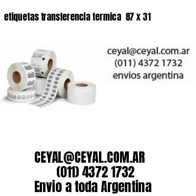 etiquetas transferencia termica  87 x 31