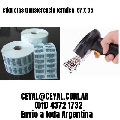 etiquetas transferencia termica  87 x 35