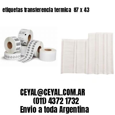 etiquetas transferencia termica  87 x 43