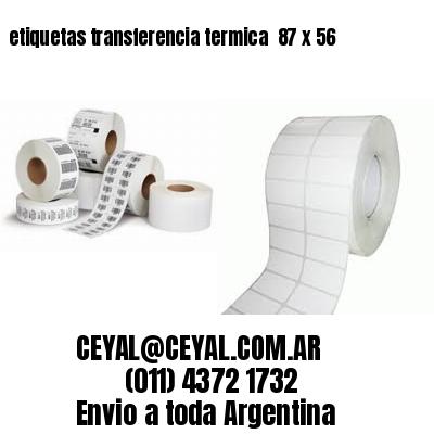 etiquetas transferencia termica  87 x 56