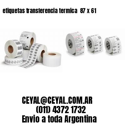 etiquetas transferencia termica  87 x 61