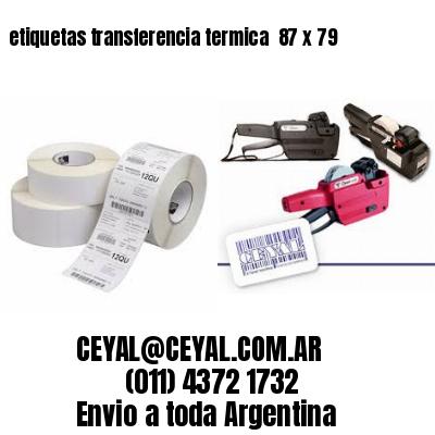 etiquetas transferencia termica  87 x 79