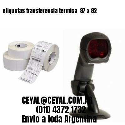 etiquetas transferencia termica  87 x 82