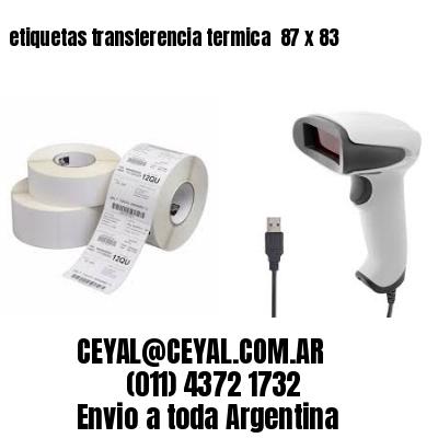 etiquetas transferencia termica  87 x 83