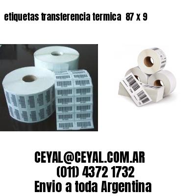 etiquetas transferencia termica  87 x 9