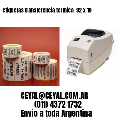 etiquetas transferencia termica  92 x 10