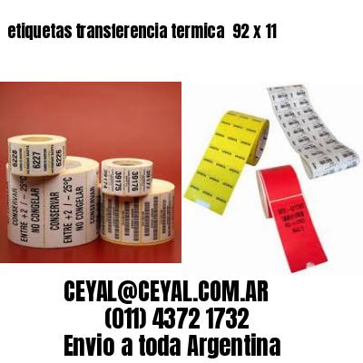 etiquetas transferencia termica  92 x 11