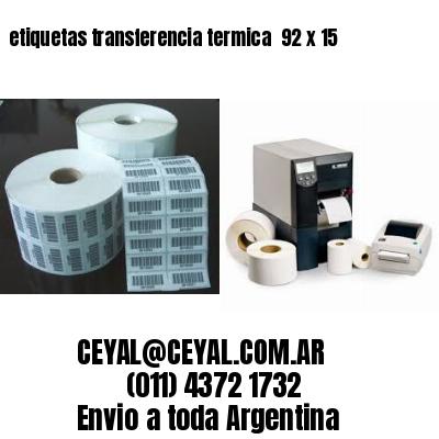 etiquetas transferencia termica  92 x 15