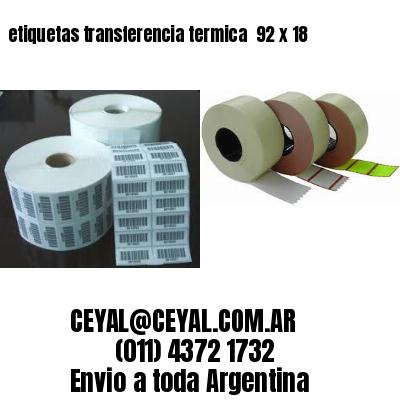 etiquetas transferencia termica  92 x 18