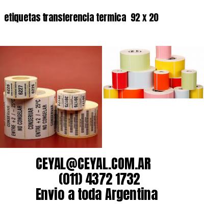 etiquetas transferencia termica  92 x 20