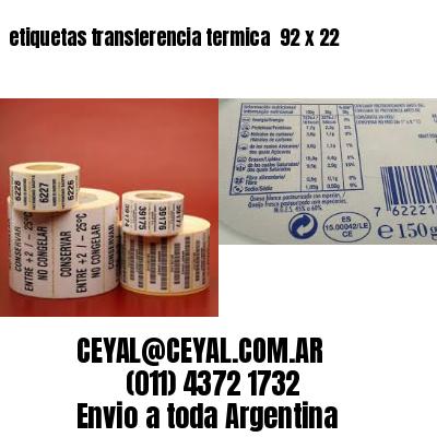 etiquetas transferencia termica  92 x 22