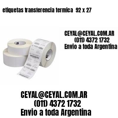 etiquetas transferencia termica  92 x 27