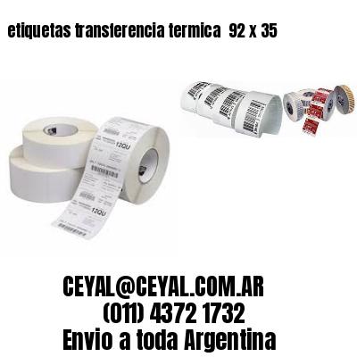 etiquetas transferencia termica  92 x 35