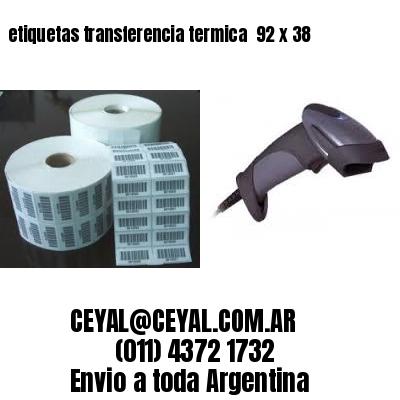 etiquetas transferencia termica  92 x 38