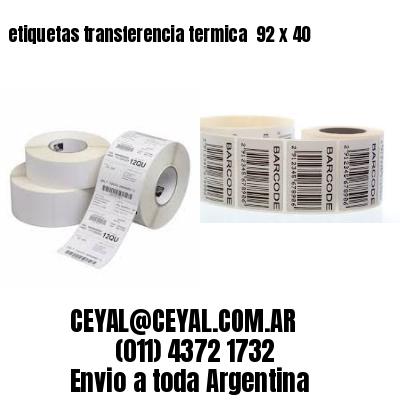 etiquetas transferencia termica  92 x 40