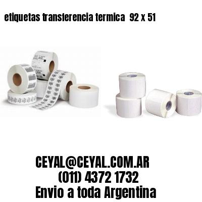 etiquetas transferencia termica  92 x 51