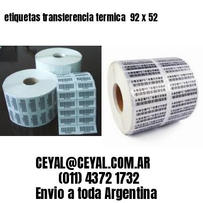 etiquetas transferencia termica  92 x 52