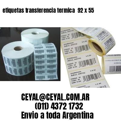 etiquetas transferencia termica  92 x 55