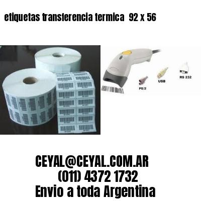 etiquetas transferencia termica  92 x 56