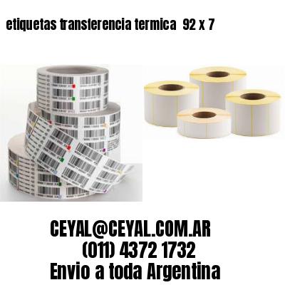 etiquetas transferencia termica  92 x 7