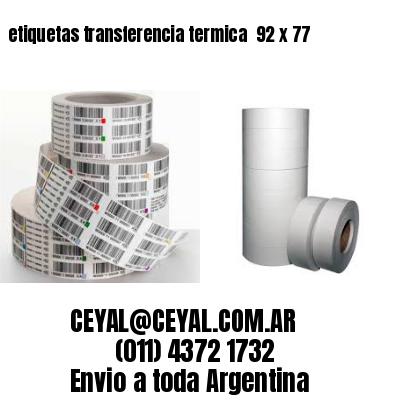 etiquetas transferencia termica  92 x 77