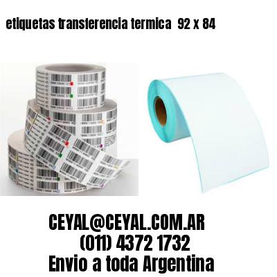 etiquetas transferencia termica  92 x 84
