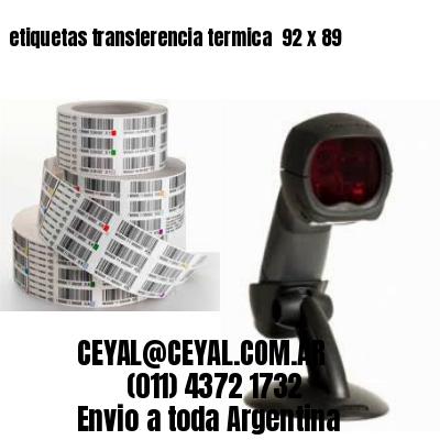 etiquetas transferencia termica  92 x 89
