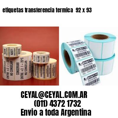 etiquetas transferencia termica  92 x 93
