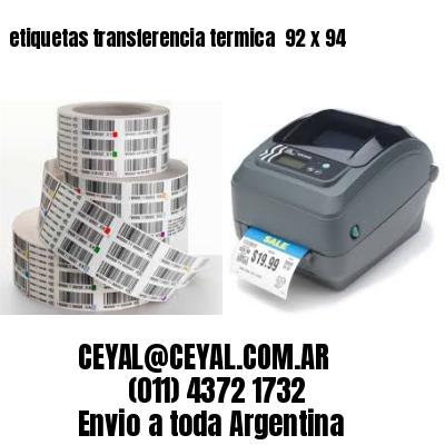 etiquetas transferencia termica  92 x 94