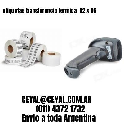 etiquetas transferencia termica  92 x 96