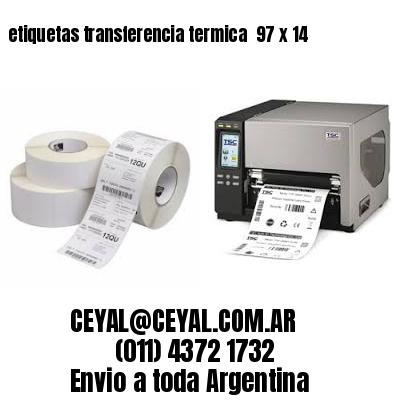 etiquetas transferencia termica  97 x 14