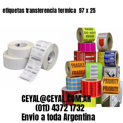 etiquetas transferencia termica  97 x 25