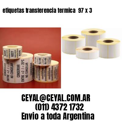 etiquetas transferencia termica  97 x 3