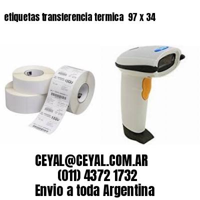 etiquetas transferencia termica  97 x 34