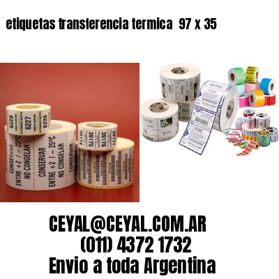 etiquetas transferencia termica  97 x 35
