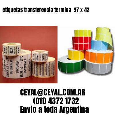 etiquetas transferencia termica  97 x 42