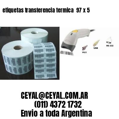 etiquetas transferencia termica  97 x 5
