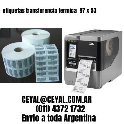etiquetas transferencia termica  97 x 53