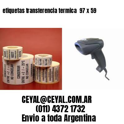 etiquetas transferencia termica  97 x 59