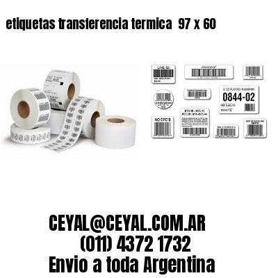 etiquetas transferencia termica  97 x 60