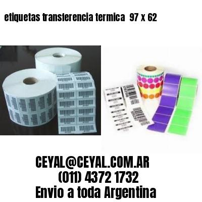 etiquetas transferencia termica  97 x 62
