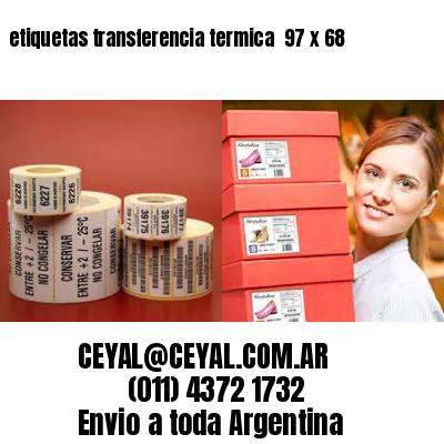 etiquetas transferencia termica  97 x 68