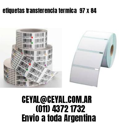 etiquetas transferencia termica  97 x 84