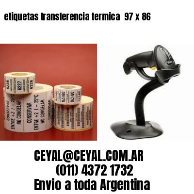 etiquetas transferencia termica  97 x 86