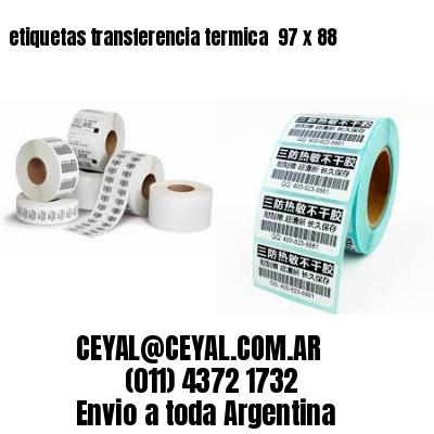 etiquetas transferencia termica  97 x 88