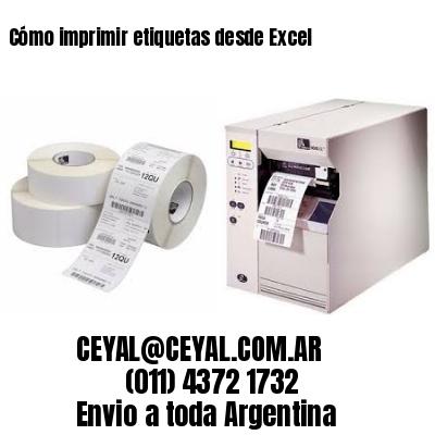 Cómo imprimir etiquetas desde Excel